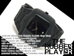 Nixon Mens Watches RUBBER PLAYER rubber player gray black rubber A139-191