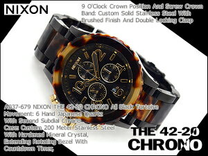 42-20 42-20 Nixon men chronograph watch THE CHRONO Kurono toe TASS All Blacks tenless A037-679