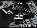 ANDRE COURREGES アンドレ・クレージュ メンズ ネクタイピン タイバー 黒 CT4004A