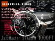 【HAMILTON JAZZ MASTER】ハミルトン HAMILTON ジャズマスター シービュー 自動巻き+手巻き式 メンズ ブラック ダークブラウンレザーベルト H37715535 腕時計 ネコポス不可