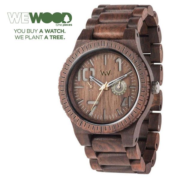 【WEWOOD】ウィウッド 腕時計 ウッド/木製 マルチファンクション OBLIVIO CHOCOLATE  9818082 ECO 木 木製 ハリウッド オーガニック 木製 イタリア リサイクル