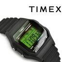 【国内正規品】タイメックス クラシックデジタル クォーツ 腕時計 ブラック ラバーベルト T7596...