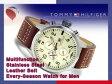 【TOMMY HILFIGER】トミー ヒルフィガー マルチファンクション メンズ 腕時計 ベージュダイアル ブラウンレザーベルト 1790684