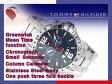 【TOMMY HILFIGER】トミー ヒルフィガー GMT機能搭載 メンズ 腕時計 ネイビーダイアル シルバーステンレスベルト 1790975