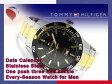 【TOMMY HILFIGER】トミー ヒルフィガー メンズ 腕時計 ブラックベゼル ブラック×ゴールドダイアル シルバー×ゴールド ステンレスベルト 1790979
