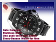 【TOMMY HILFIGER】トミー ヒルフィガー メンズ 腕時計 IPブラック ステンレスベルト 1790987