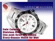 【TOMMY HILFIGER】トミー ヒルフィガー メンズ 腕時計 ベゼル ホワイトダイアル シルバー ステンレスベルト 1790988