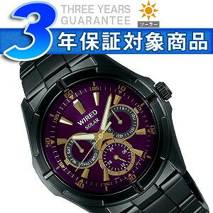 Seiko wired NEW STANDARD new standard multifunction mens solar watch purple AGAD052