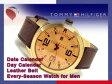 【TOMMY HILFIGER】トミー ヒルフィガー メンズ 腕時計 ゴールド×ブラウン ブラウン レザーベルト 1791015
