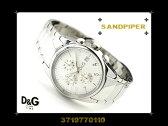 Dolce&Gabbana ドルチェ&ガッバーナ メンズ腕時計 SANDPIPER ホワイトダイアル×シルバーメタル 3719770110 ネコポス不可