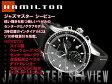 ハミルトン HAMILTON クロノグラフ メンズ ジャズマスターシービュー ブラックダイアル ブラックレザーベルト H37512731 腕時計 ネコポス不可