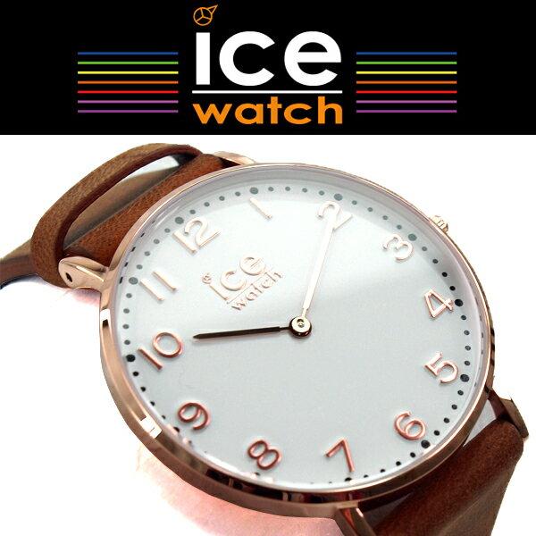 【おまけ付き】【商品レビューで3年保証】 ICE WATCH アイスウォッチ ICE CITY アイスシティ ホワイトチャペル WHITECHAPEL クォーツ ユニセックス 腕時計 36mm ホワイト ピンクゴールド ブラウン CHLAWHI36N CHL.A.WHI.36.N.15 【正規品】