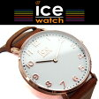 【商品レビューで3年保証】 ICE WATCH アイスウォッチ ICE CITY アイスシティ ホワイトチャペル WHITECHAPEL クォーツ ユニセックス 腕時計 36mm ホワイト ピンクゴールド ブラウン CHLAWHI36N CHL.A.WHI.36.N.15 【正規品】