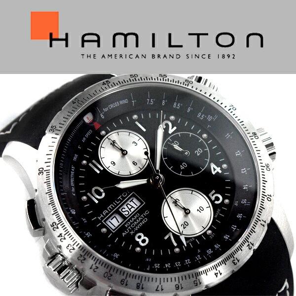 HAMILTON ハミルトン Khaki Aviation カーキ X-Wind Auto Chrono アナログ 腕時計 クロノグラフ 自動巻き メンズ ブラック シルバー H77616333【】 ハミルトン HAMILTON カーキ KHAKI オートマチック パイロット 腕時計 メンズ