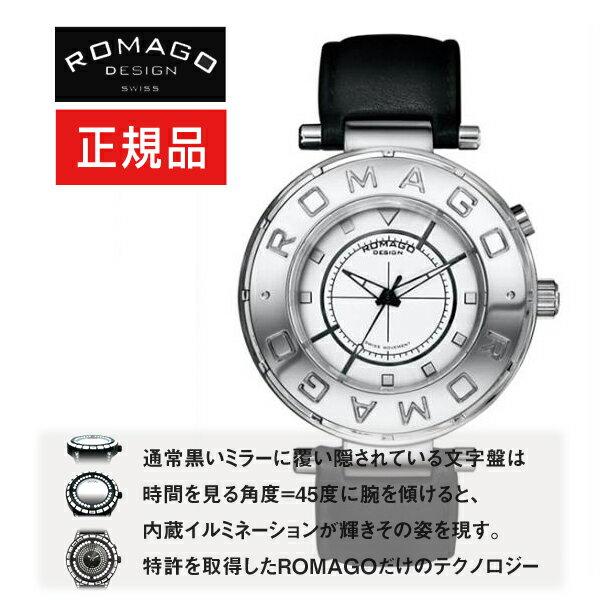 【ROMAGO】ロマゴ フローシリーズ Flow series 内蔵イルミネーション メンズ 腕時計 ブラック RM002-0055ST-SV ロマゴ フローシリーズ メンズ 腕時計 RM002-0055ST-SV