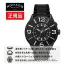 【ROMAGO】ロマゴ ヌメレーションシリーズ Numeration series 内蔵イルミネーション メンズ 腕時計 ブラック RM007-0053SS-BK