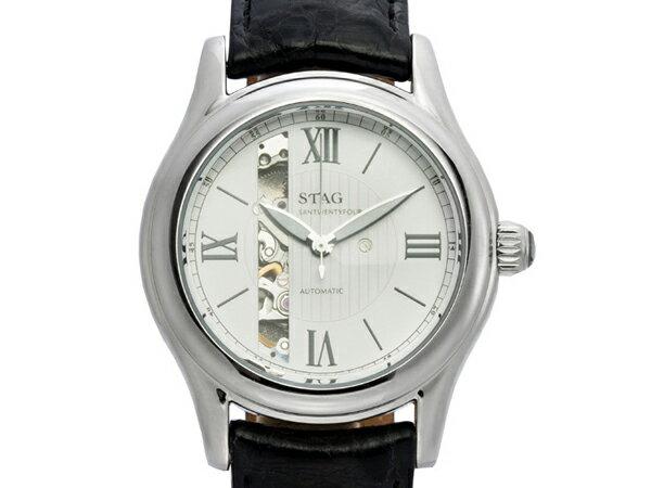 【STAG】 スタッグ Executive Line メンズ腕時計 ホワイトダイアル STG003S2【ネコポス】 STAG スタッグ Executive Line メンズ腕時計 ホワイトダイアル