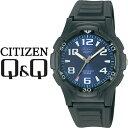 シチズン CITIZEN Q&Q キューキュー Falcon ファルコン スタンダードモデル メンズ 腕時計 ブルー × ブラック VP84J850