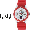 【ネコポス配送で送料無料】【レビューを書いて1年保証】シチズン CITIZEN Q&Q キューキュー HelloKitty ハローキティ レディース 腕時計 ホワイト × レッド VQ75-232