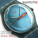 【Swatch】スウォッチ クオーツ メンズ 腕時計 Originals New Gent PETROL REBEL SUOG701【あす楽】