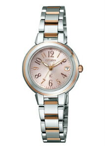Citizen cross sea ladies watch MINISOL ミニソル eco-drive radio clock perfect pink ES8034-57 W