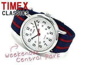 【TIMEXWeekenderCentralPark】タイメックスウィークエンダーメンズ・レディース腕時計ホワイトダイアルネイビーマルチナイロンベルト