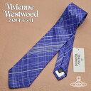 ショッピングネクタイ 【送料無料】Vivienne Westwood 2020年新作 ヴィヴィアンウエストウッド ネクタイ メンズ チェック柄 ブルー VV20-11549-K201