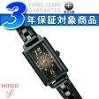 【SEIKO WIREDf】セイコー ワイアードエフ レディース腕時計 BLACK COMPILATINO ブラックコンピレーション オールブラック×ゴールド AGEK731【送料無料】【正規品】【ネコポス不可】