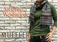 【Vivienne Westwood】ヴィヴィアンウエストウッド ヴィヴィアン レディース メンズ マフラー チェック柄 ブラウン×グレー F738-0001