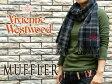 【Vivienne Westwood】ヴィヴィアンウエストウッド ヴィヴィアン レディース メンズ マフラー チェック柄 ネイビー×グレー F738-0002