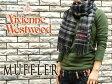 【Vivienne Westwood】ヴィヴィアンウエストウッド ヴィヴィアン レディース メンズ マフラー チェック柄 ブラック×グレー F738-0004