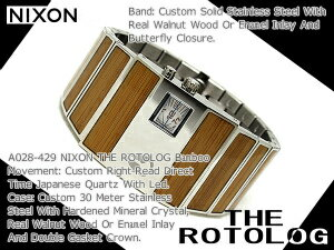 Nixon Mens Watches THE ROTOLOG rotolog】blue bamboo A028-429