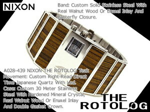 Nixon mens watches 'THE ROTOLOG' rotolog】blue teak A028-439