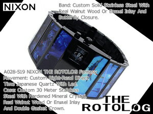 Nixon Mens Watches THE ROTOLOG rotolog】blue fantasy A028-519