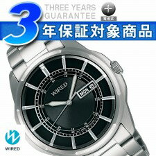 Three stitches of SEIKO wired new standard men watch calendar model black AGAT021