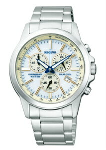 シチズンレグノメンズ watch solar technical center chronograph white KL1-215-11