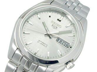 Seiko 5 mens Automatic Watch Silver Dial silver stainless steel belt SNK355K1
