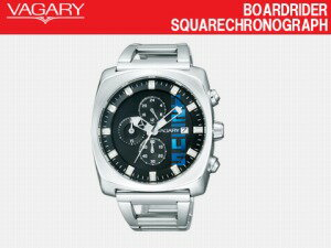 VAGARY Bagley mens watch BOARDRIDER SQUARE CHRONOGRAPH chronograph CITIZEN citizen black x stainless BR2-214-51