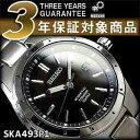 【逆輸入SEIKO KINETIC】セイコー キネティック メンズ 腕時計 ブラック チタンベルト SKA493P1【あす楽】