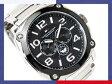 【TOMMY HILFIGER】トミー ヒルフィガー メンズ腕時計 ブラックダイアル シルバーステンレスベルト 1790669