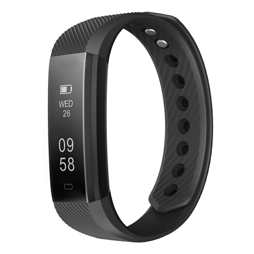 スマートウォッチ 腕時計型 万歩計 睡眠計 消費カロリー スマートブレスレット SNS通知 IP67防塵防水機能【ID115】心拍計なし 黒