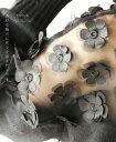【再入荷♪2月12日12時&22時より】「french」透ける胸元に花々を添えたニットトップス