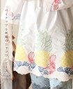 「french」パイナップル刺繍のシャツワンピース2月21日22時販売新作