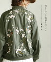 【再入荷♪1月15日12時&22時より】「mori」梅とうぐいす刺繍スカジャン