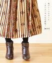 【再入荷♪2月17日12時&22時より】「mori」柄プリーツスカート〜オリエンタルな花模様〜