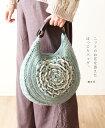 【再入荷♪1月15日12時&22時より】(モスブルー)「mori」ニットのお花を添えたほっこりバッグ