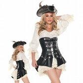 ◆送料540円◆女 海賊 風 コスプレ パイレーツカリビアン 風 コスプレ コスチューム 衣装 帽子 ドレス ベスト 豪華3点セット