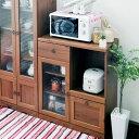 【送料無料】レンジボード 9075 アンティーク調&カントリー調の家具シリーズ 家電置き 家電収納 ...