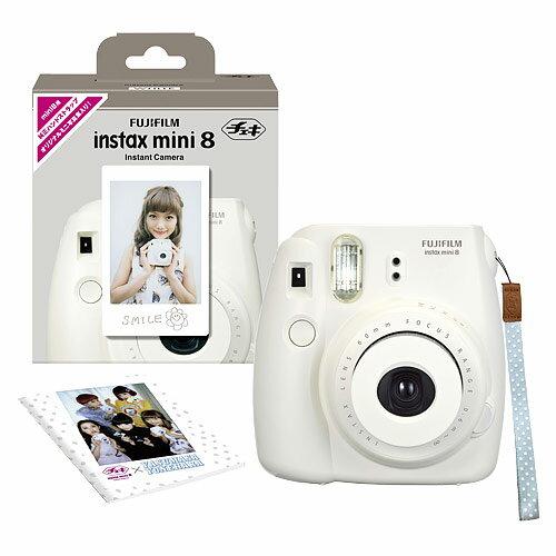 インスタントカメラ チェキ「instax mini 8」純正ハンドストラップ付き(ホワイト…...:onestep:10127169
