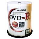 リーダーメディアテクノ DVD-R ALL-WAYS 4.7GB 16倍速対応 データ用 100枚 ALDR47-16X100PW